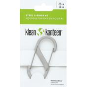 Klean Kanteen S-Biner, Steel, No. 3, 25 lb
