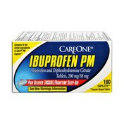 CareOne Ibuprofen PM Pain Reliever/Nighttime Sleep Aid - 180 CT