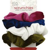 Ela Scrunchies, Velvet, Assorted Colors