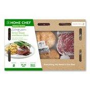 Home Chef Sirloin Steak And Bacon Demi