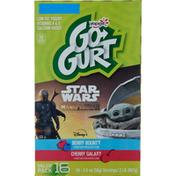 Go-Gurt Yogurt, Low Fat, Berry Bounty/Cherry Galaxy, Star Wars, Value Pack