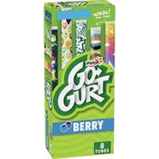 Yoplait Go-Gurt, Low Fat Yogurt, Strawberry & Berry Variety Pack, 8 Count