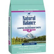 Natural Balance Dog Food, Chicken & Sweet Potato Formula, For Adult Dogs, Small Breed Bites