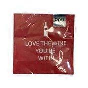 Paperproducts Design Love The Wine Beverage Napkin