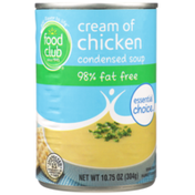 Food Club Cream Of Chicken 98% Fat Free Condensed Soup