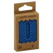 Papyrus Candle Topper, Number 0, 3 x 2 Inch