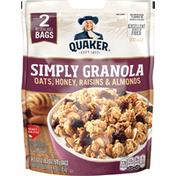 Quaker Oats Honey Raisins & Almonds Simply Granola