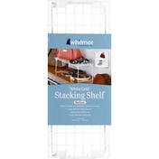 Whitmor White Grid Stacking Shelf Medium