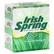 Irish Spring Deodorant Soap Bars, Bath Size, Aloe