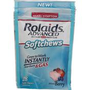 Rolaids Antacid Plus Anti-Gas, Mixed Berry, Softchews