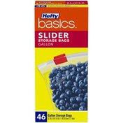 Hefty Basics Gallon Slider Storage Bags