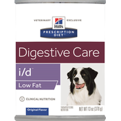 Prescription Diet Dog Nutrition, Therapeutic, Low Fat, Original Flavor, Digestive Care