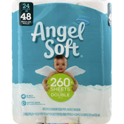 Angel Soft Bathroom Tissue, Unscented, Double Roll, 2-Ply