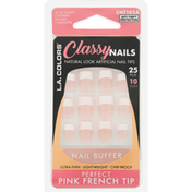 L.A. Colors Artificial Nail Tips, Perfect Pink French, Classy Nails