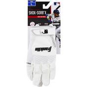 Franklin`s Teleme Batting Gloves, Shok-Sorb X, Youth, Large