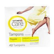 Signature Care Unscented Tampons Regular Absorbency