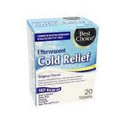 Best Choice Effervescent Cold Relief Original Flavor Tablets