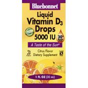 Bluebonnet Vitamin D3 Drops, 5000 IU, Liquid, Citrus