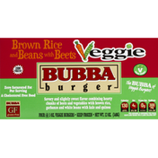 BUBBA burger Burgers, Veggie, Brown Rice and Beans with Beets