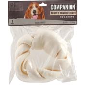 Companion Dog Chews, Braided Rawhide Donut