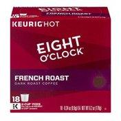Eight O'Clock Coffee Eight O'Clock Keurig Hot French Roast Dark Roast Coffee K-Cup Pods - 18 CT