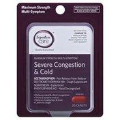 Signature Care Cold, Flu & Sore Throat Relief, Acetaminophen Pain Reliever/fever Reducer