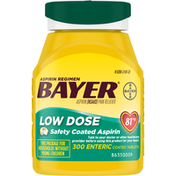 Bayer Pain Reliever, 81 mg, Low Dose, Enteric Coated Tablets