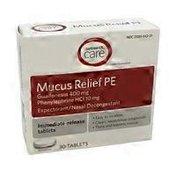 Signature Care Mucus Relief Pe Tablets