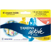 Tampax Active Pearl Unscented Tampons