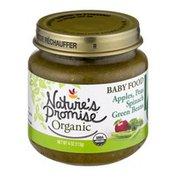 Nature's Promise Organic Baby Food Apples, Peas, Spinach Green Beans 6m+