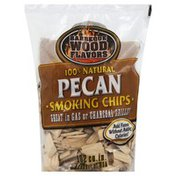 Barbeque Wood Flavors Smoking Chips, Pecan