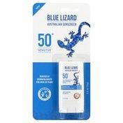 Blue Lizard Sunscreen Stick, Mineral, Sensitive, Broad Spectrum SPF 50+