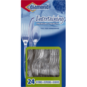 Diamond Dinnerware Set, Premium Strength, Full Size, Entertaining, Box