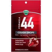 Vicks Formula 44 Cough Drops Cherry Cooling Menthol Soothes Relieves