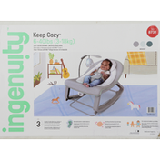 Ingenuity Bounce & Rock Seat, 3-in-1 Grow with Me, Weaver