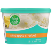 Food Club Pineapple Sherbet