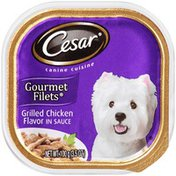 CESAR Gourmet Filets Grilled Chicken Flavor in Sauce Wet Dog Food
