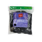 Hanes Women's Black With White Vent Ankle Socks