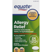 Equate Allergy Relief, 10 mg, Tablets