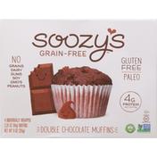 Soozy's Muffins, Grain-Free, Double Chocolate