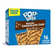 Kellogg's Pop-Tarts Toaster Pastries, Breakfast Foods, Baked in the USA, Chocolate Chip Drizzle