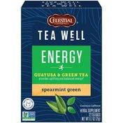 Celestial Seasonings Tea Well Immune Support Organic Lemon Ginger Herbal Supplement Tea Bags