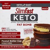 SlimFast Keto Peanut Butter Cup Fat Bomb Snack