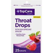 TopCare Throat Drops Pectin Cough Suppressant/Demulcent, Berry Flavor
