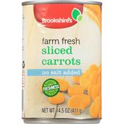 Brookshire's Carrots, Farm Fresh, No Salt Added, Sliced