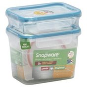 Snapware Food Storage containers, Pyrex Glass + Snapware Plastic, 6 Piece, Combo Pack