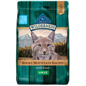 Blue Buffalo Wilderness Rocky Mountain Recipe High Protein, Natural Adult Dry Cat Food, Trout