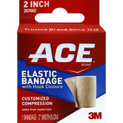 Ace Elastic Bandage, with Hook Closure, 2 Inch Width