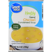 Great Value Condensed Soup, Healthy, Cream of Chicken