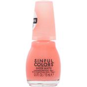 Sinful Colors Nail Polish, Long-Lasting, Hot & Hazy 2758, Sheer Matte